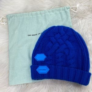 Off-White Blue Beanie